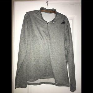 Reebok quarter zip pullover in grey size L